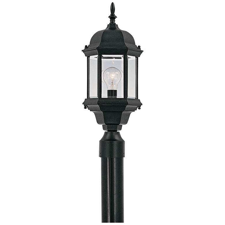 """Devonshire 20"""" High Clear Glass Black Outdoor Post Light"""