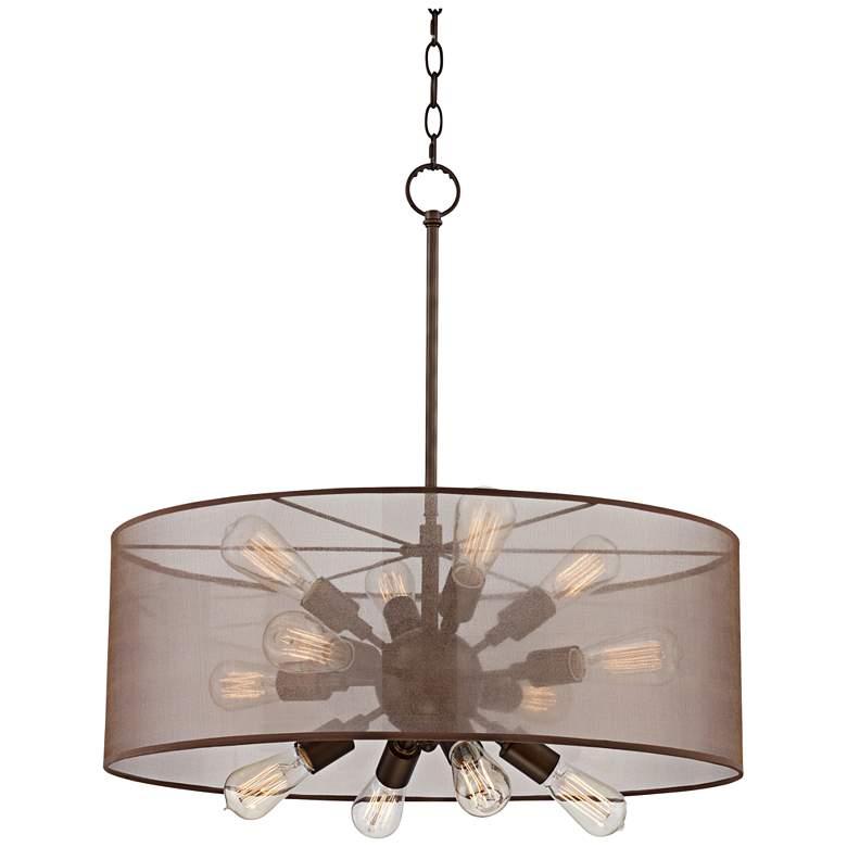 """Possini Euro Taur 27 1/2"""" Wide Bronze LED Pendant Light"""