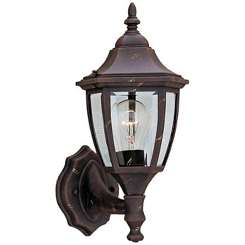 "Builder 14 1/4"" High Bottom-Mount Gold Outdoor Wall Light"