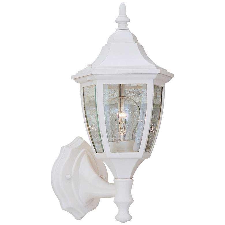 "Builder 14 1/4""H Bottom-Mount White Outdoor Wall Light"