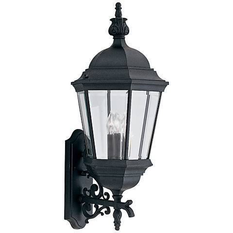 "Builder 30 1/2"" High Traditional Black Outdoor Wall Light"