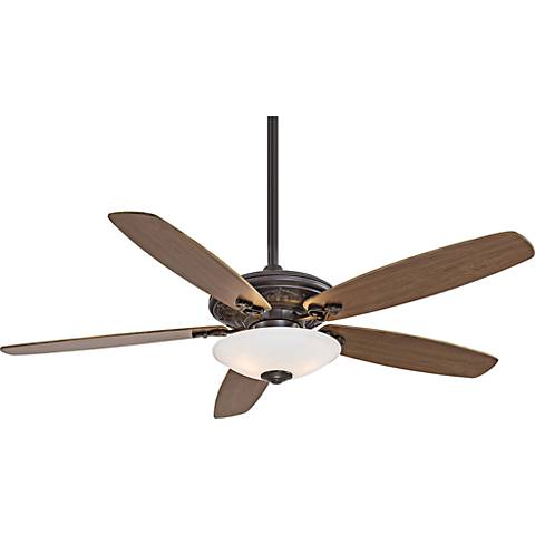 "52"" Traditional Mojo White Glass - Bronze Ceiling Fan"