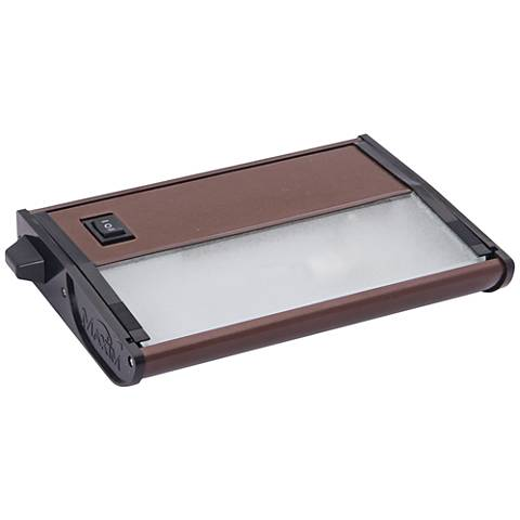 "CounterMax MX-X120c 7"" Wide Bronze Under Cabinet Light"