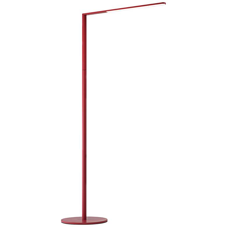 Koncept Lady-7 Matte Red LED Floor Lamp with USB Port