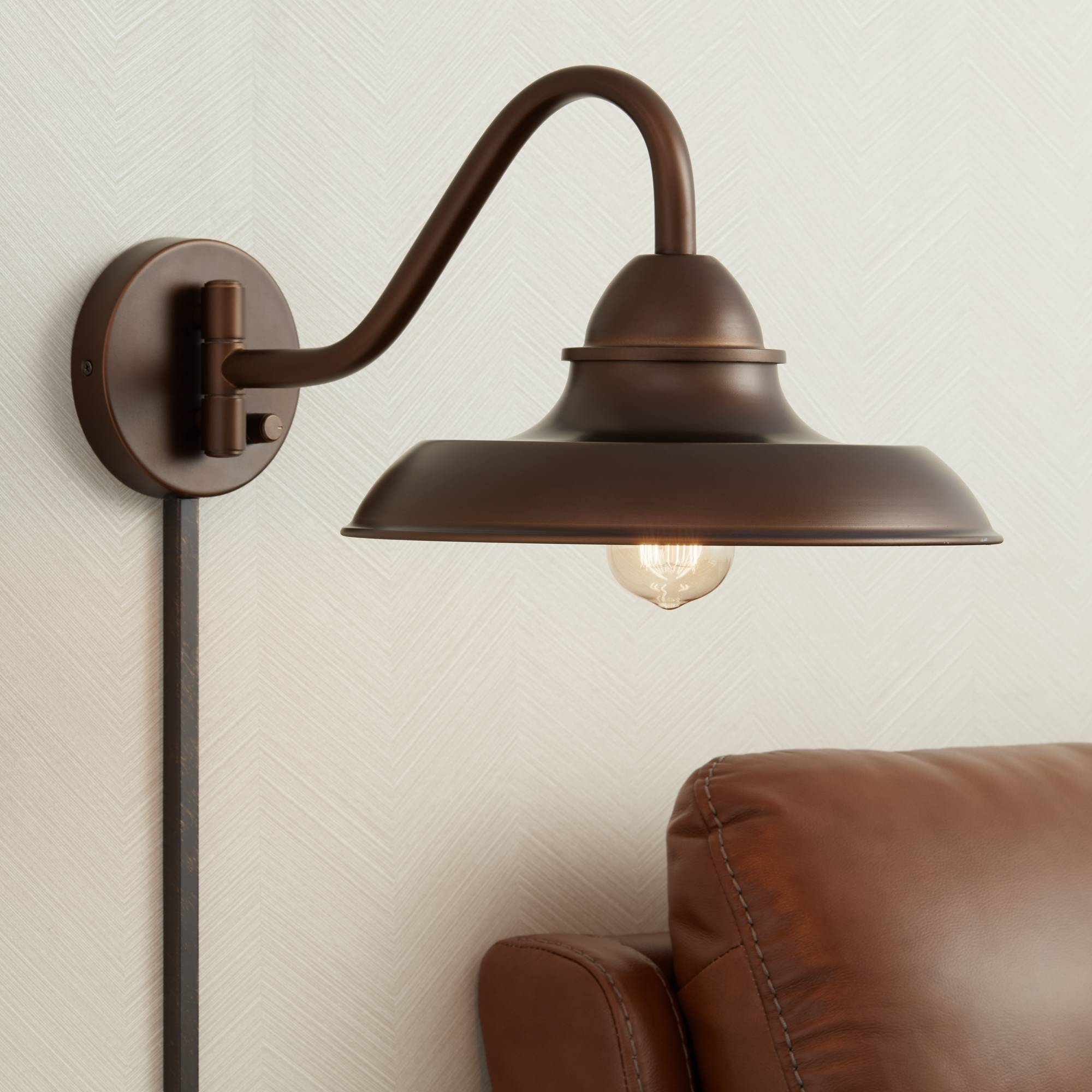 Indoor Plug In Sconce With Edison Bulb