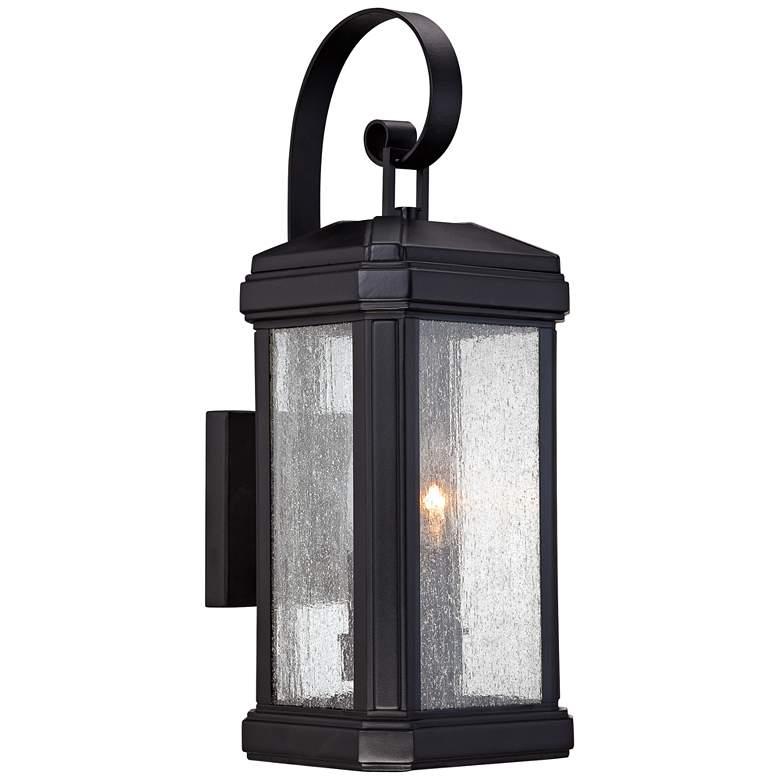 "Quoizel Trumbull 18 1/2""H Mystic Black Outdoor Wall Light"