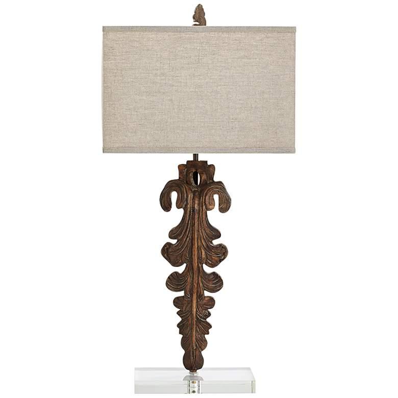 Soren Abstract Modern Sculpted Wood Table Lamp