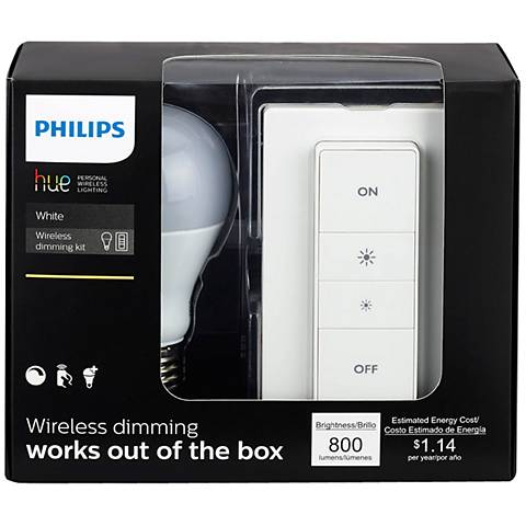 Philips Wireless Dimming Kit with White A19 Bulb