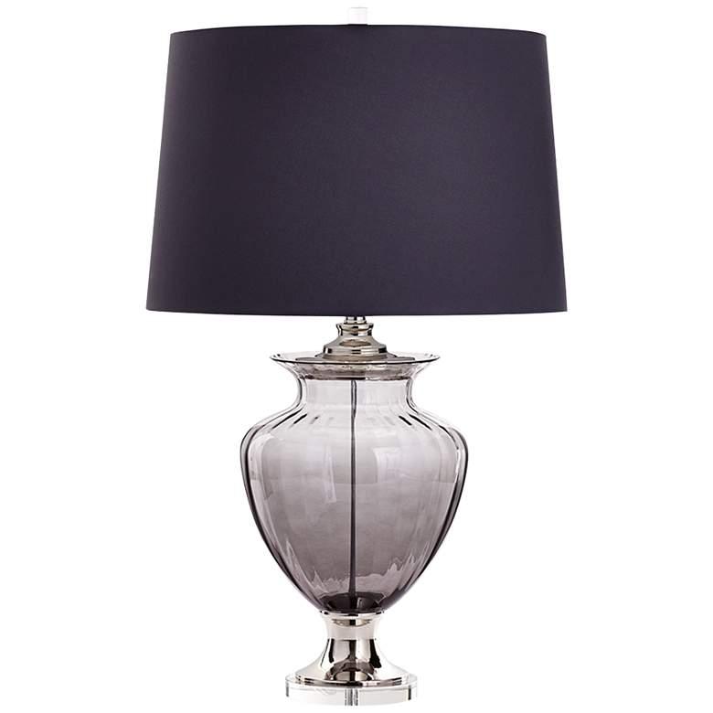 Lazara Classical Urn Gray Glass Table Lamp