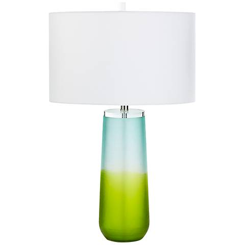 Oppland Two-Tone Bottle Glass Table Lamp