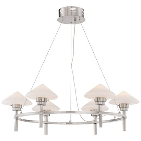 "Possini Euro Kanan 31 1/4"" Wide Satin Nickel Chandelier"