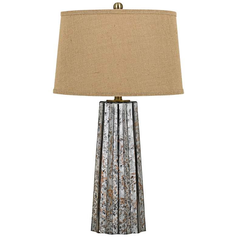 Bradenton Antiqued Mirror Glass Table Lamp