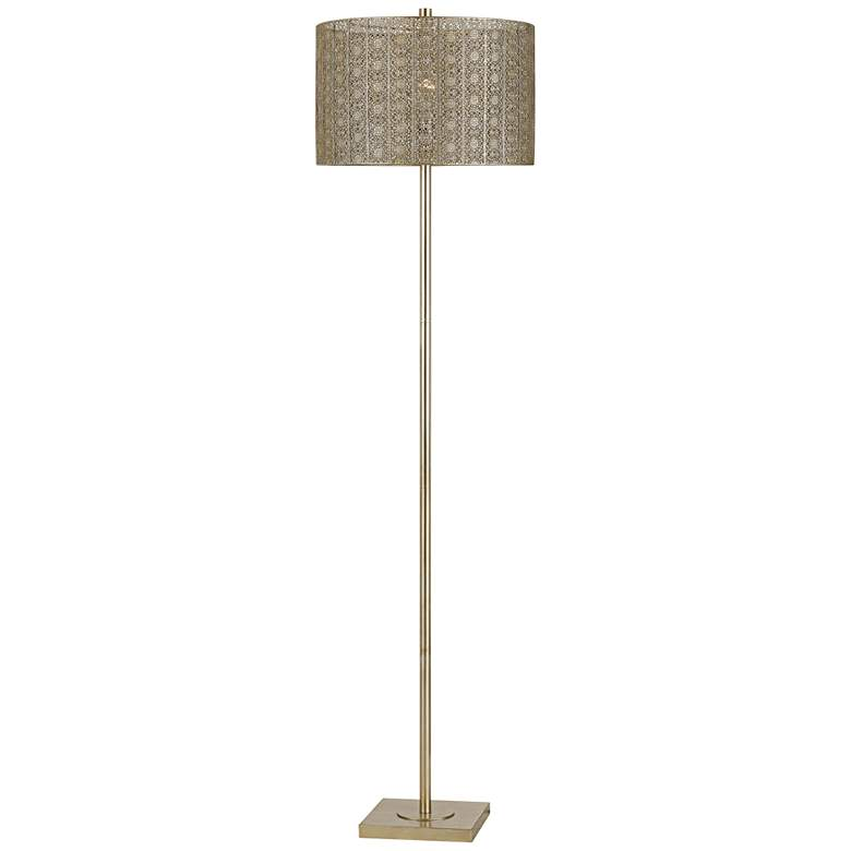 Falfurrias Warm Silvery Gold Metal Floor Lamp