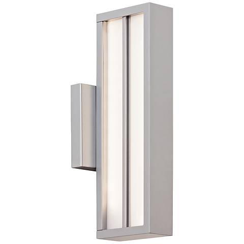 """LBL Aviva 13 1/2"""" High Silver LED Outdoor Wall Light"""