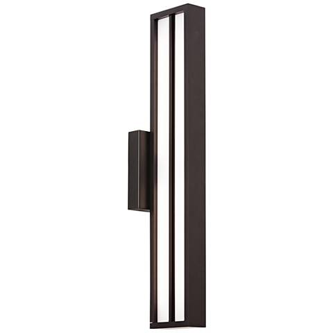 "LBL Aviva 26"" High Black LED Outdoor Wall Light"