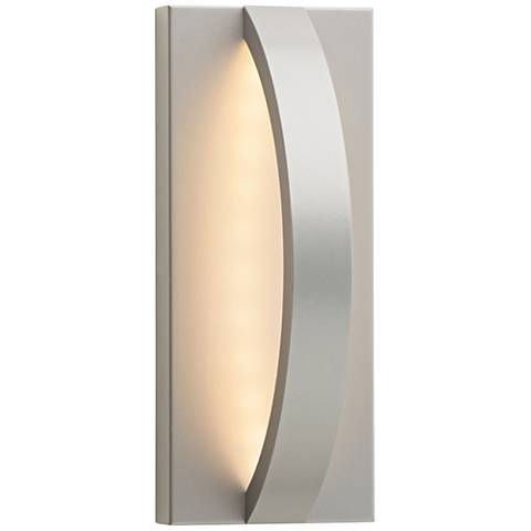 "LBL Hunter 10 1/2"" High Silver LED Outdoor Wall Light"