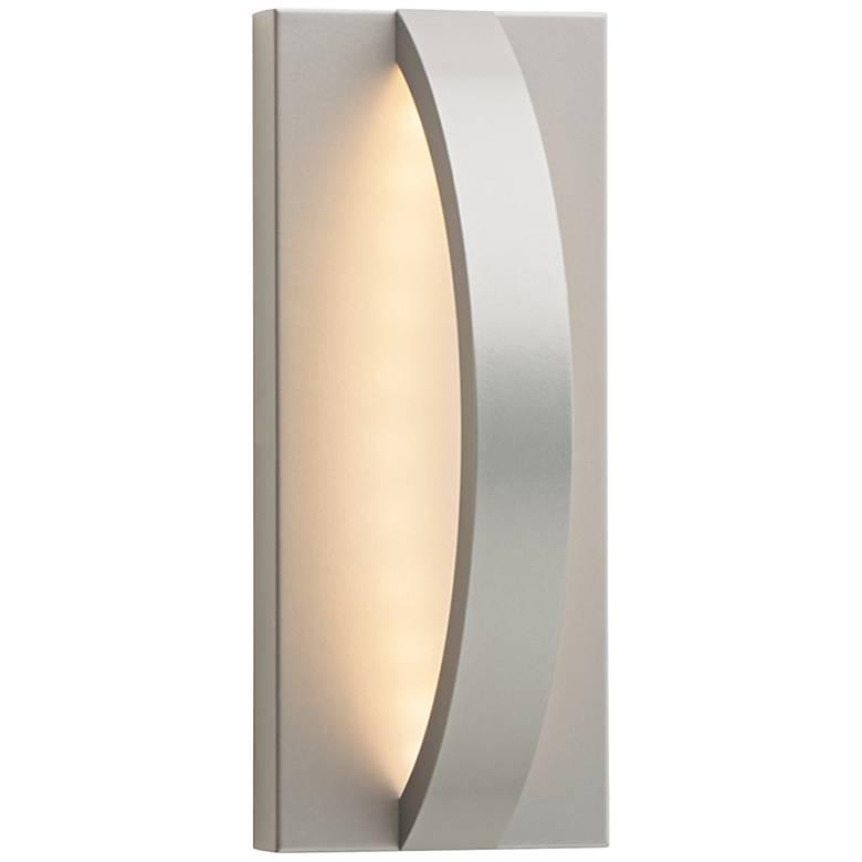 "Hunter 10 1/2"" High Silver LED Outdoor Wall Light"
