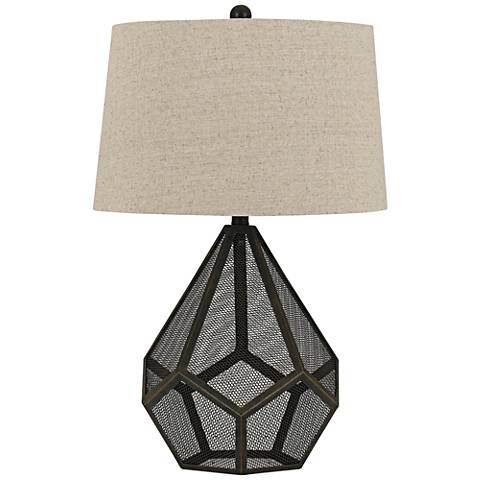 Sapelo Metal Mesh Wire Table Lamp
