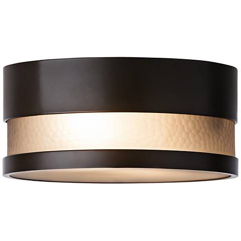 "LBL Moon Dance 13 1/4"" Wide Bronze Outdoor LED Ceiling Light"