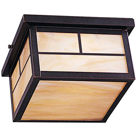 """Maxim Coldwater 9""""W Burnished LED Outdoor Ceiling Light"""