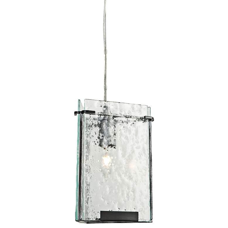 "Varaluz Rain 8 3/4"" Wide Rain Night Glass Mini Pendant"