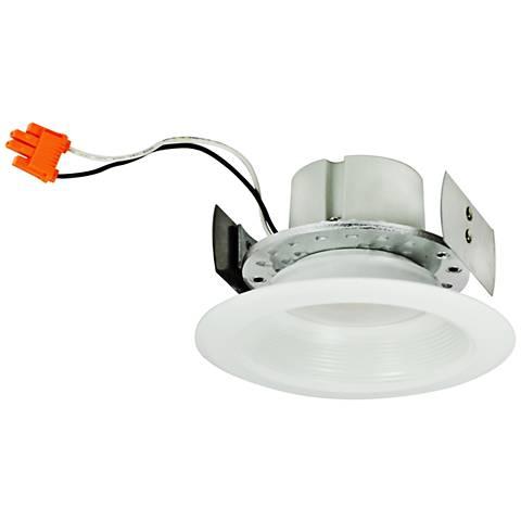 """4"""" Nora IC/Non-IC 16W 3000K LED White Baffle Retrofit Trim"""