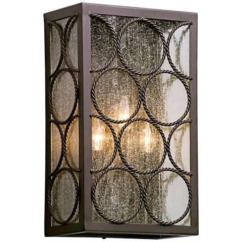 """Bacchus 17 3/4""""H Textured Bronze 3-Light Outdoor Wall Light"""