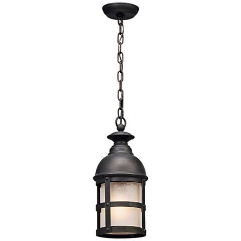 """Webster 18""""H Vintage Bronze Outdoor LED Hanging Light"""