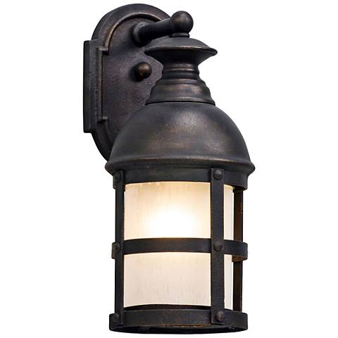 "Webster 13 1/4"" High Vintage Bronze LED Outdoor Wall Light"