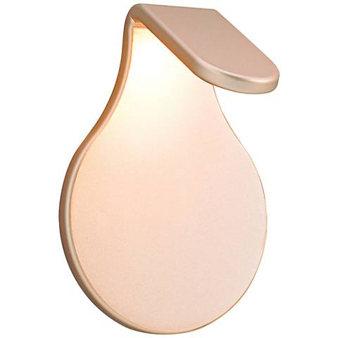 "LBL Lighting Airin 7"" High Gold Mist LED Wall Sconce"