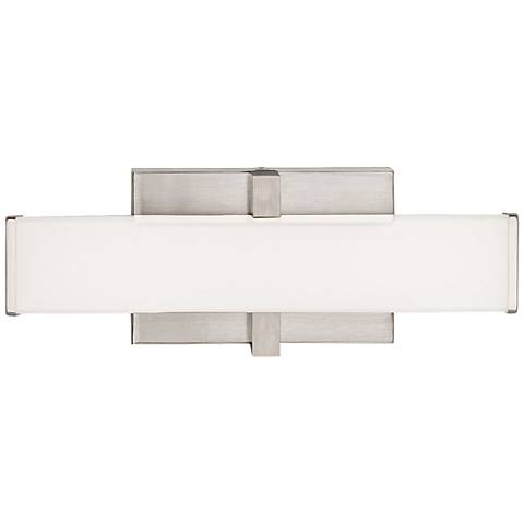 "LBL Lighting Ellis 12"" Wide Satin Nickel LED Bath Light"