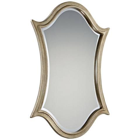 """Quoizel Vanderbilt Silver 24"""" x 36"""" Shield Wall Mirror"""
