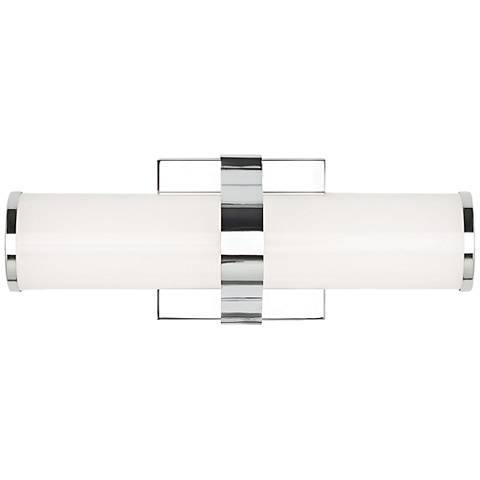"LBL Lighting Lynk 12"" Wide Polished Chrome LED Bath Light"