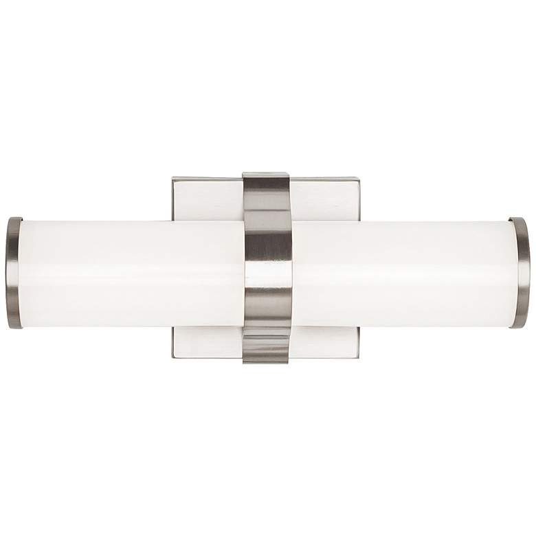 "Tech Lighting Lynk 12"" Wide Satin Nickel LED Bath Light"