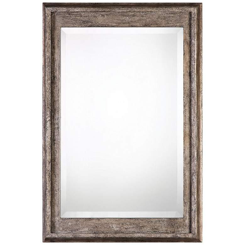 """Uttermost Allegan Silver Leaf 25"""" x 36 3/4"""" Wall Mirror"""