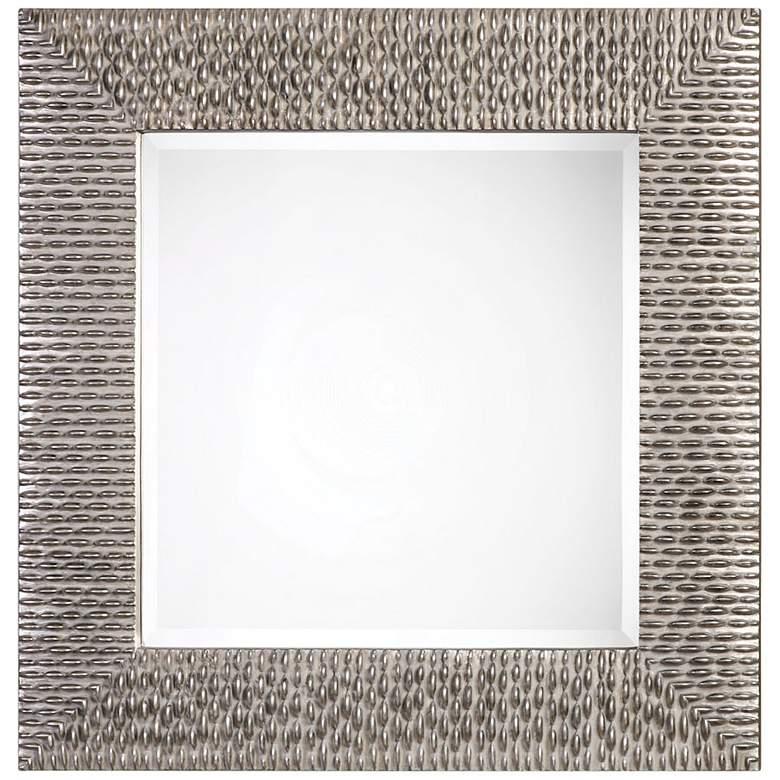 "Uttermost Cressida Silver Beaded 40"" Square Wall Mirror"