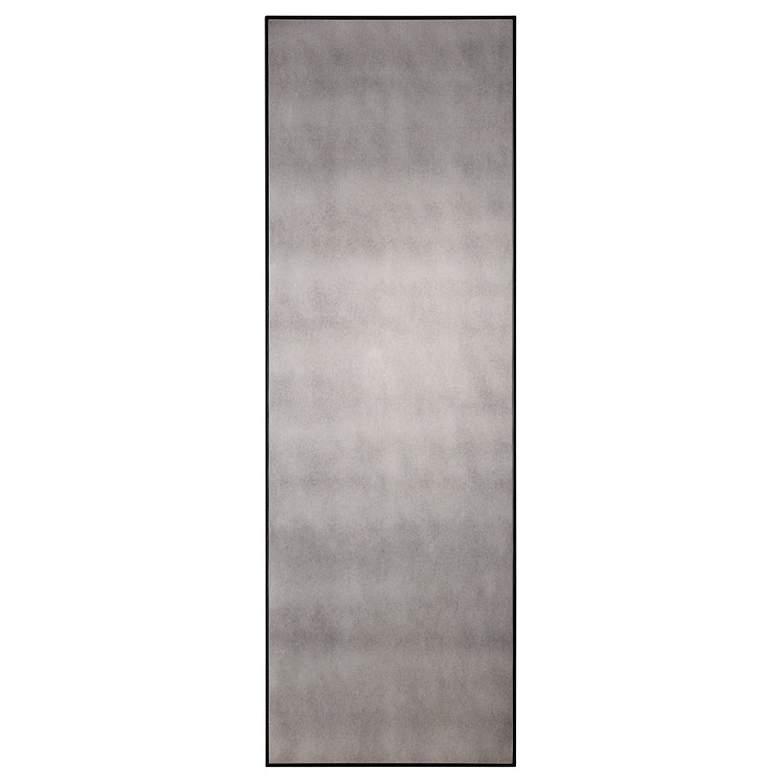 "Uttermost Burwell Black 24"" x 72"" Antiqued Wall Mirror"