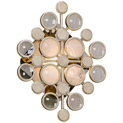 """Corbett Blur 14 3/4"""" High Modern Silver Leaf LED Wall Sconce"""