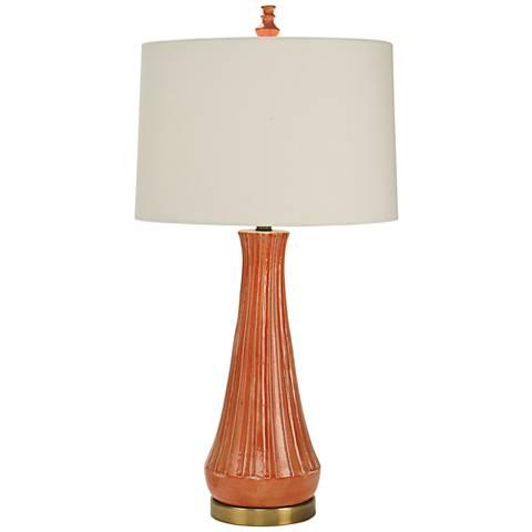 Natural Light Capri Orange Ceramic Table Lamp