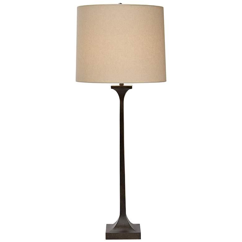 "Natural Light Gramercy 36"" High Bronze Metal Table"