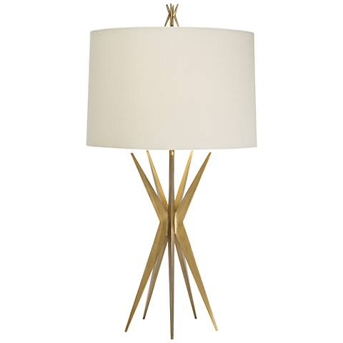Natural Light Starfall Gilded Gold Iron Metal Table Lamp