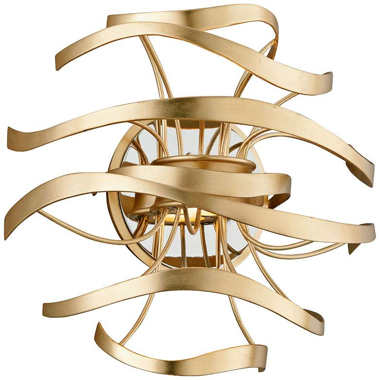 """Corbett Calligraphy 12"""" High Gold Leaf LED Wall Sconce"""