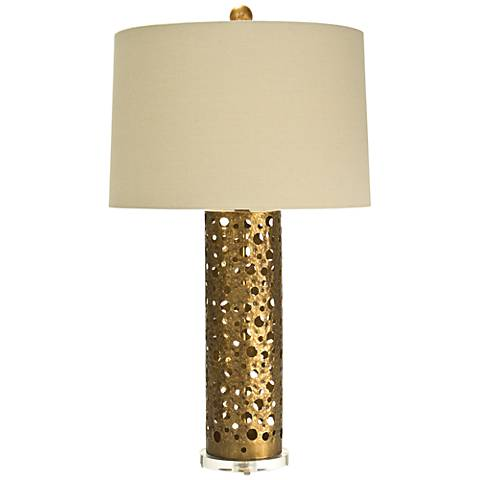 Natural Light Shasta Gilded Gold Iron Metal Table Lamp