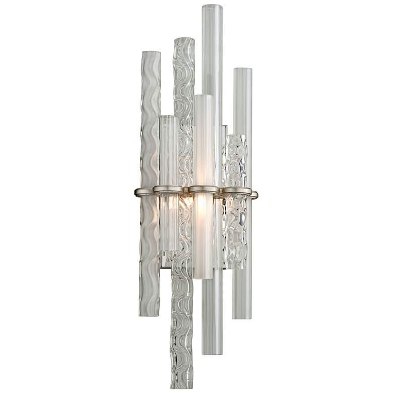 "Corbett Manhattan 27"" High Satin Silver Leaf LED"