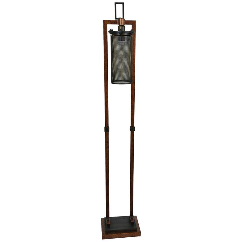 Crestview Collection Gibson Copper and Iron Floor Lamp