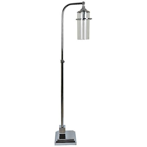 Crestview Collection Star Lux Chrome Floor Lamp
