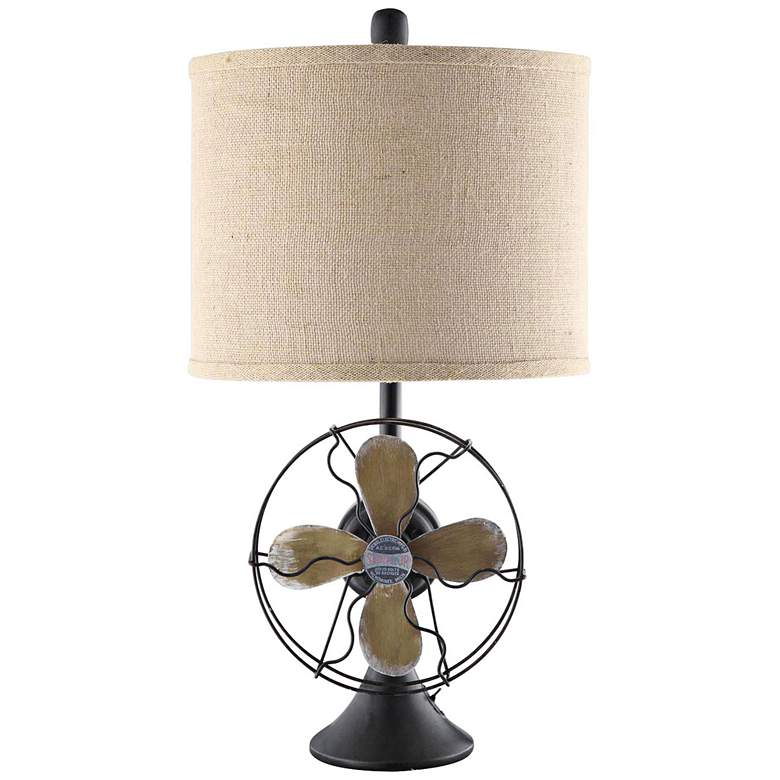 Crestview Collection Antique Fan Iron Table Lamp