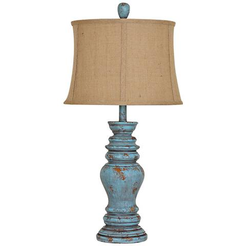 Crestview Collection Barclay Antique Turquoise Table Lamp