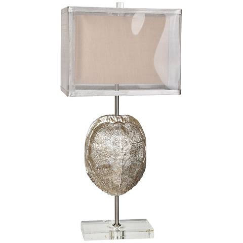 Crestview Collection Tortoise Silver Table Lamp