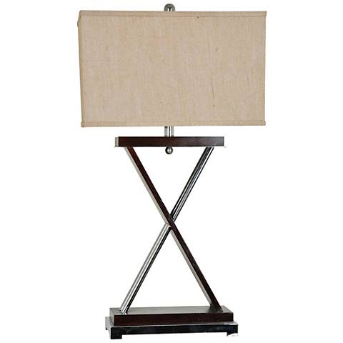 Crestview Collection Xtra Dark Wood Table Lamp